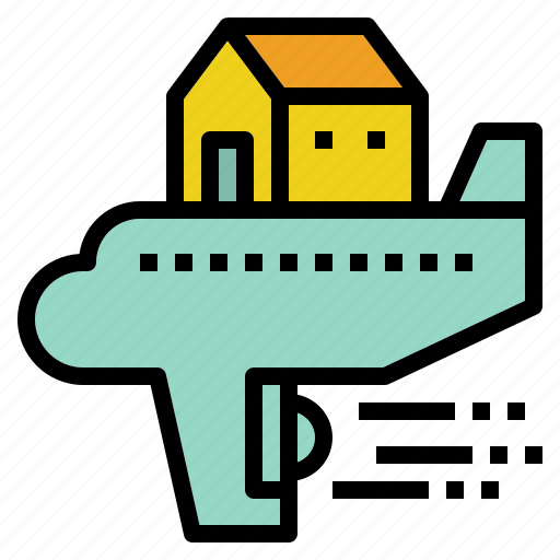expatriate, house, moving, return, tax, travel icon