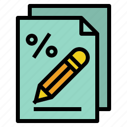 fill, form, refund, return, tax icon