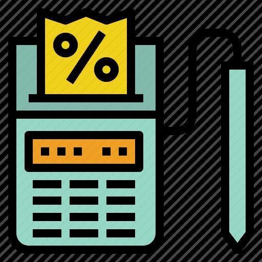 receipt, restaurant, sale, tax icon