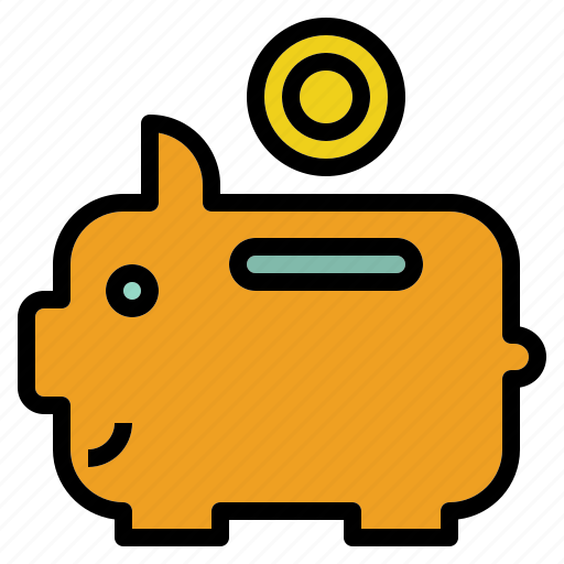 bank, coin, management, piggy, saving icon