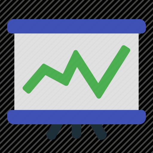 chart, graph, line, presentation icon