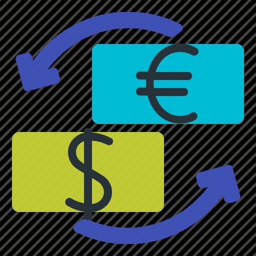 eur, forex, trading, usd icon