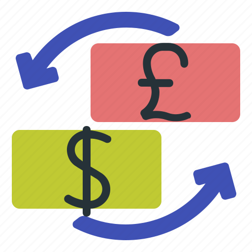 forex, gbp, trading, usd icon