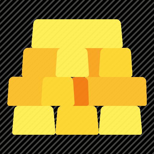bar, gold, ingot, trading icon