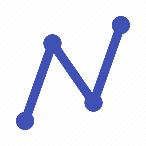 dot, forex, graph, line, trading icon
