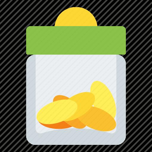 bank, coin, coins, finance, jar icon