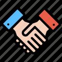deal, finance, handshake, partnership, startup icon