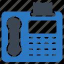 communication, fax, landline, receiver, telephone icon