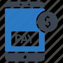 dollar, finance, mobile, online, pay
