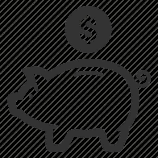 budget, finance, investment, money, piggy bank, savings icon