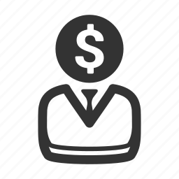 business idea, coin, dollar, head, inspiration, startup icon