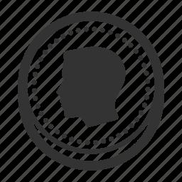 coin, coin head, face, finance, money icon