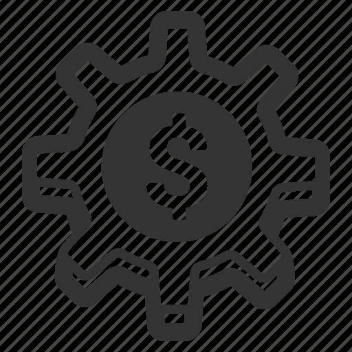 bank account, dollar, money, setup, system, transaction icon