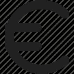 currency, eu, euro icon