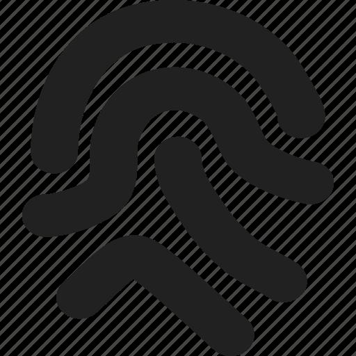 fingerprint, identity, security icon