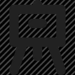 presentation, tripod, view icon