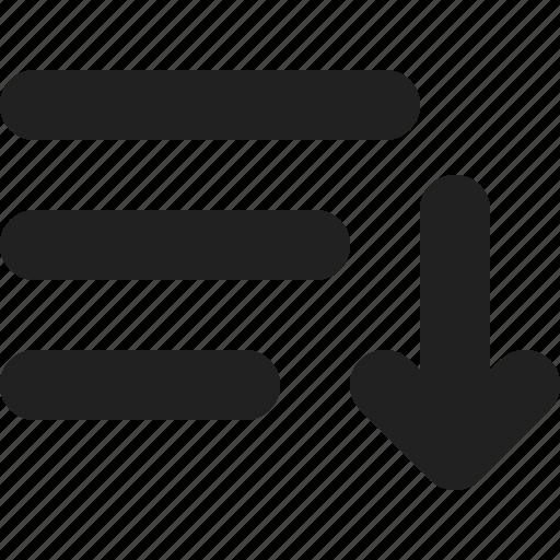 list, playlist, sort icon