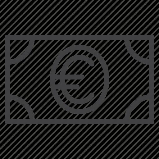 banknote, cash, euro, finance, money icon