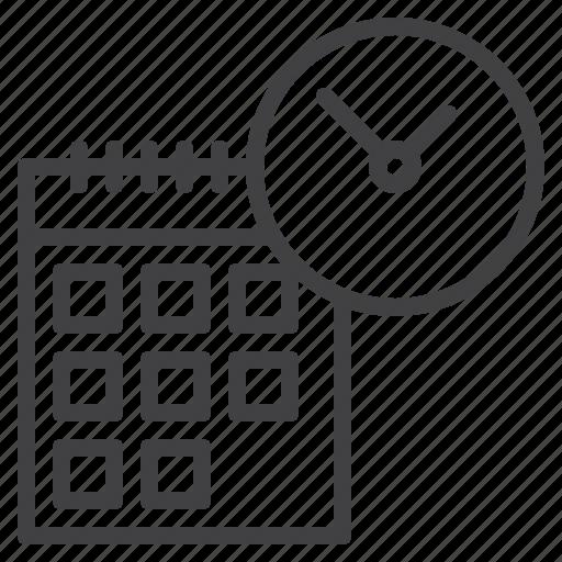 calendar, clock, date, deadline, schedule, time icon