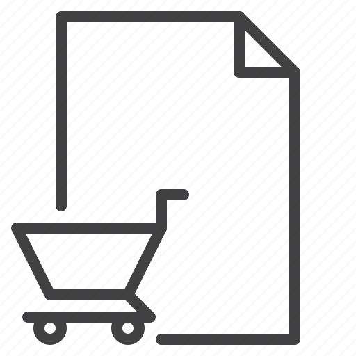 cart, document, order, purchase, shopping icon