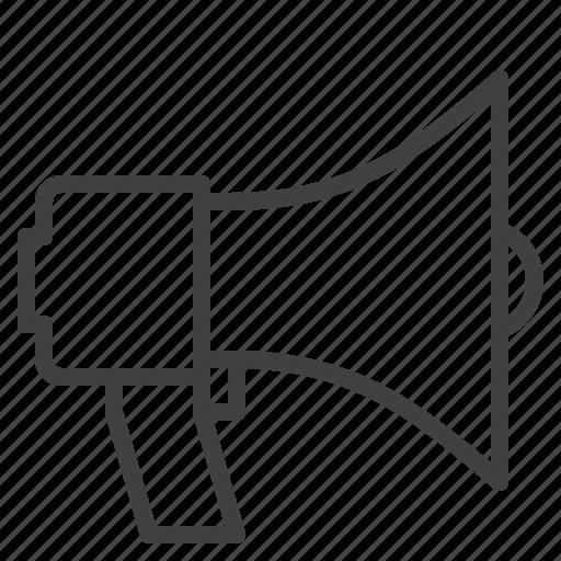 announcement, bullhorn, loudspeaker, megaphone icon
