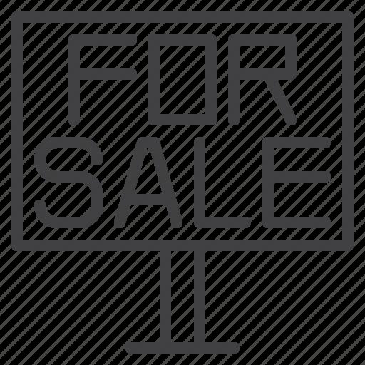 billboard, board, business, for sale icon
