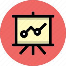 analytics, business, finance icon
