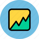 analytics, business, finance, statistics, stock icon