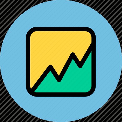 analytics, business, finance, statistics, stock icon