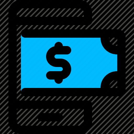 banking, mobile, money icon