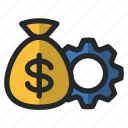 bag, business, finance, management, money, office, service icon