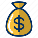 bag, business, currency, finance, money, payment, wealth