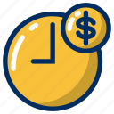 business, clock, finance, marketing, money, schedule, time icon