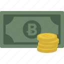 bitcoin, cash, coin, coins, currency, money icon