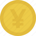 cash, coin, money, yen icon