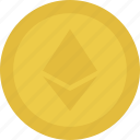 cash, coin, ether, ethereum, money icon
