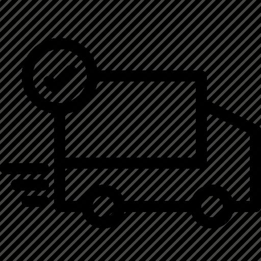 finance, free, shiping, tick, truck icon