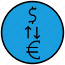 conversion, currency, dollar, finance, money icon