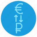 conversion, currency, dollar, euro, finance, money, transaction icon