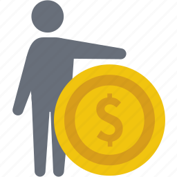 businessman, cash, coin, finance, money, price, value icon
