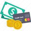 commerce, credit, currency, income, investment, payment, shopping icon