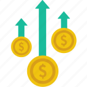 coin, currency, dollar, earnings, finance, income, money icon