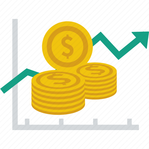analytics, dollar, finance, graph, income, investment, statistics icon