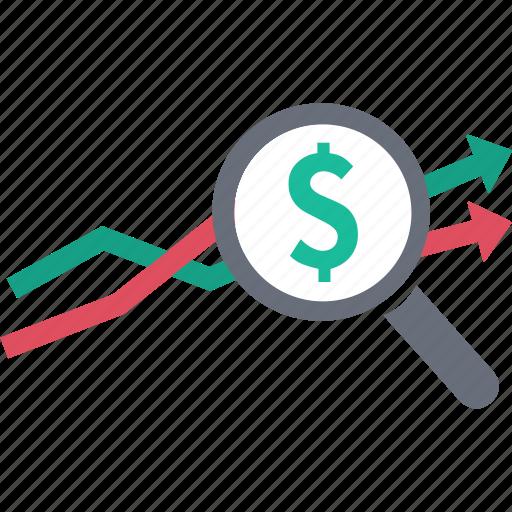 finance, growth, line graph, money, progress, report, statistics icon