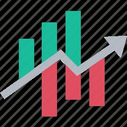 chart, diagram, graph, increase, progress, report, stock icon