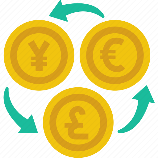 coin, currency, euro, exchange, finance, money, yen icon
