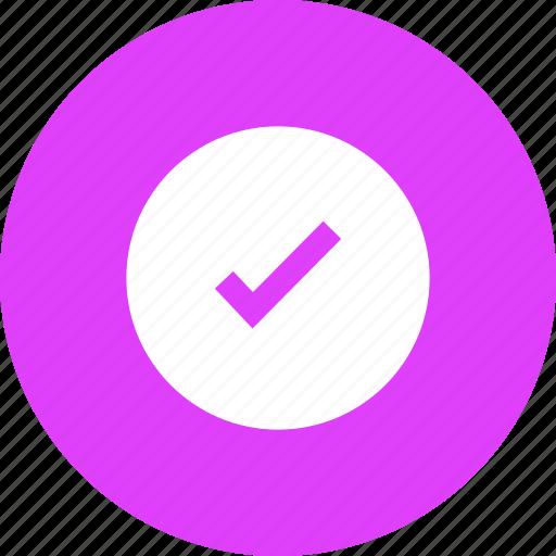 add, approve, confirm, correct, select, tick, verify icon