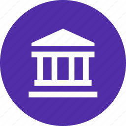 bank, building, finance, financial, institution, pillar icon