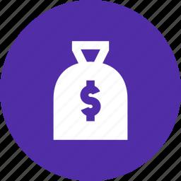 amount, bag, cash, dollar, gift, prize, reward icon