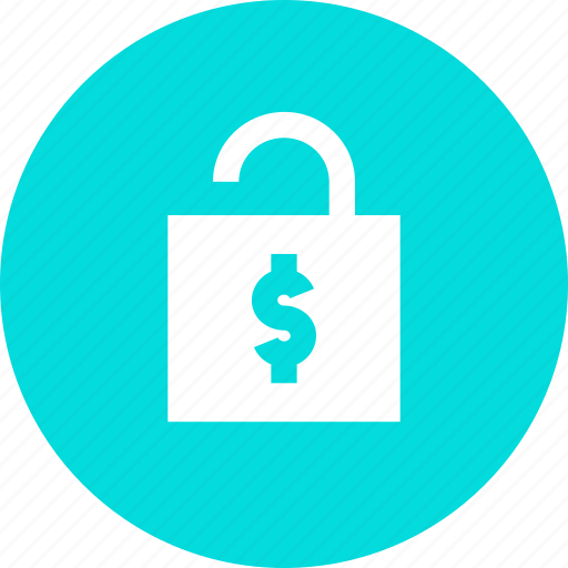 access, account, banking, enable, finance, funds, unlock icon